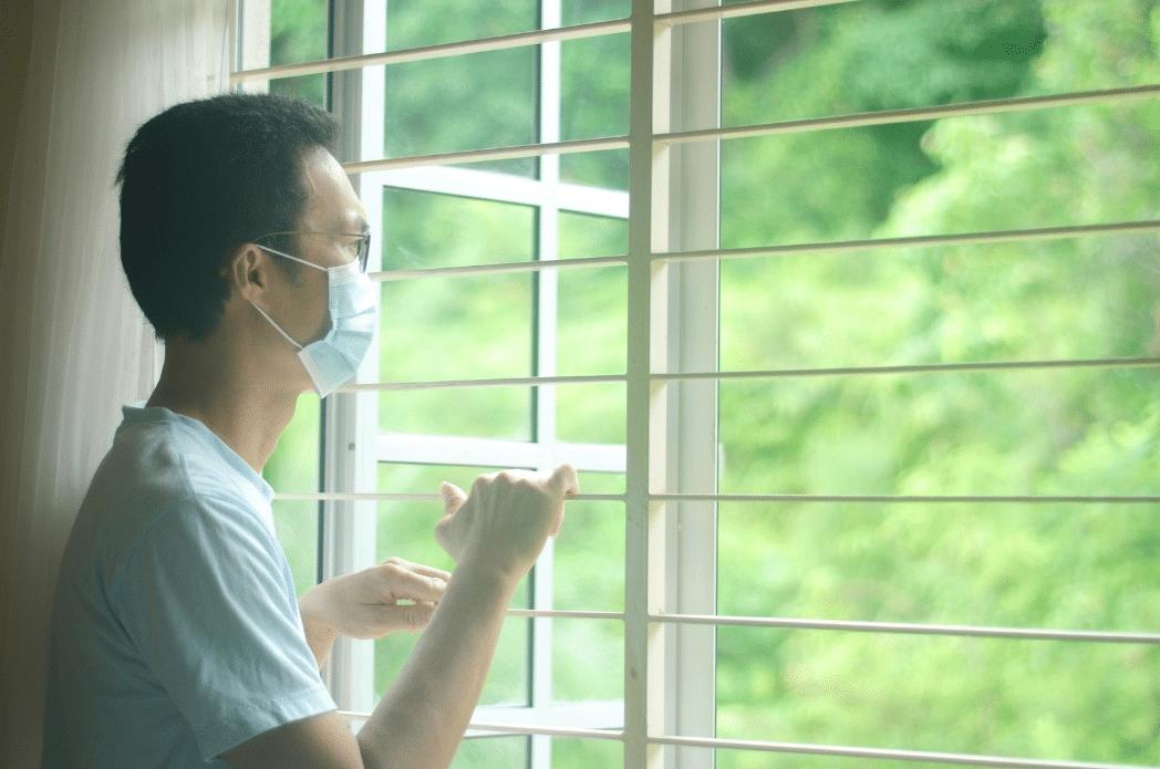 Person quarantining due to COVID-19