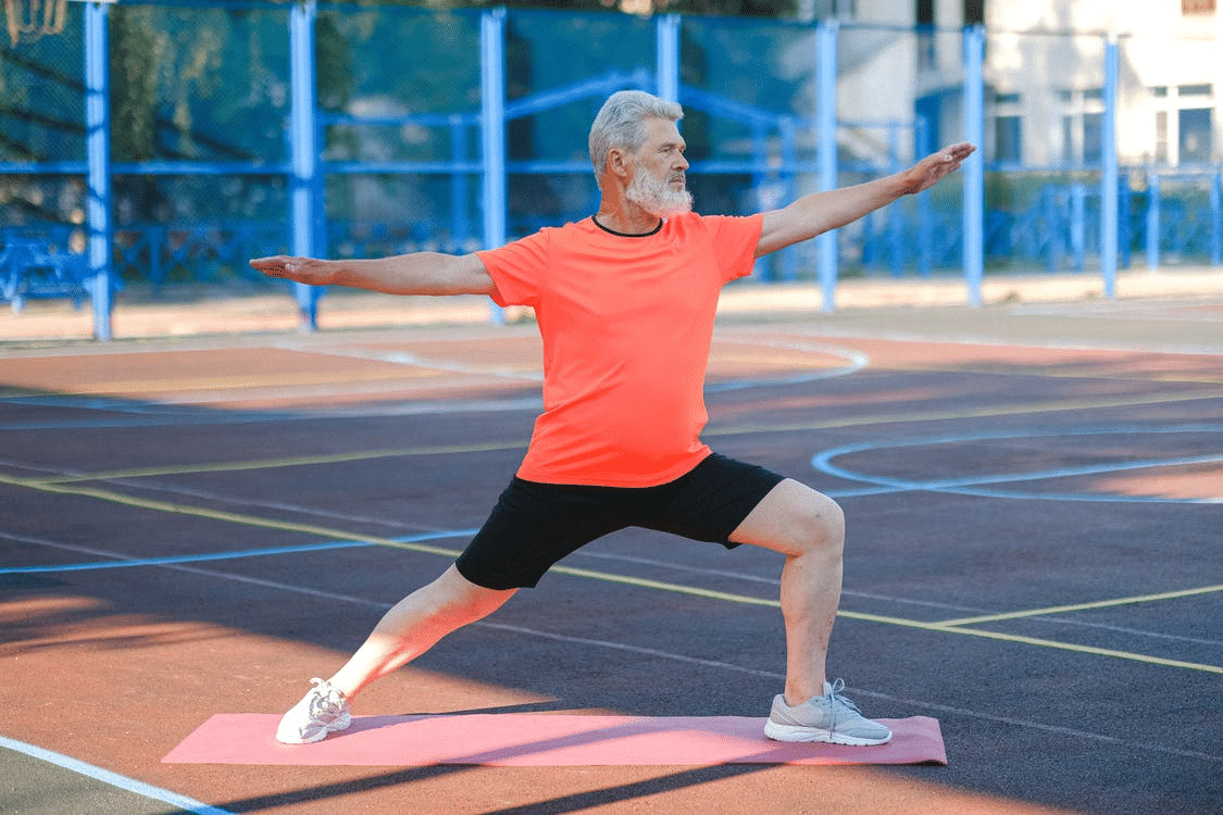 Senior man exercising to stay active